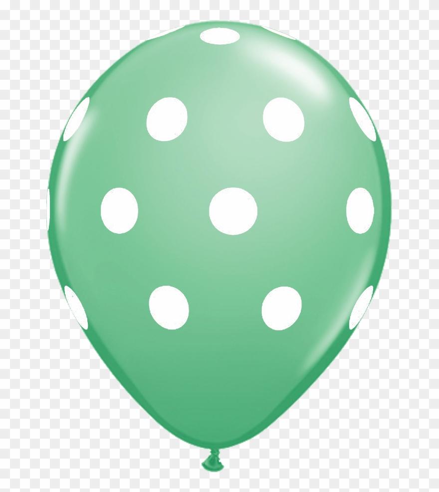 Clipart balloon mint.  polka dot pink
