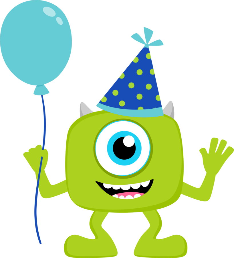 De party beb s. Hand clipart monster