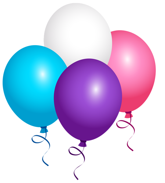 Flying Balloons PNG Clipart Image