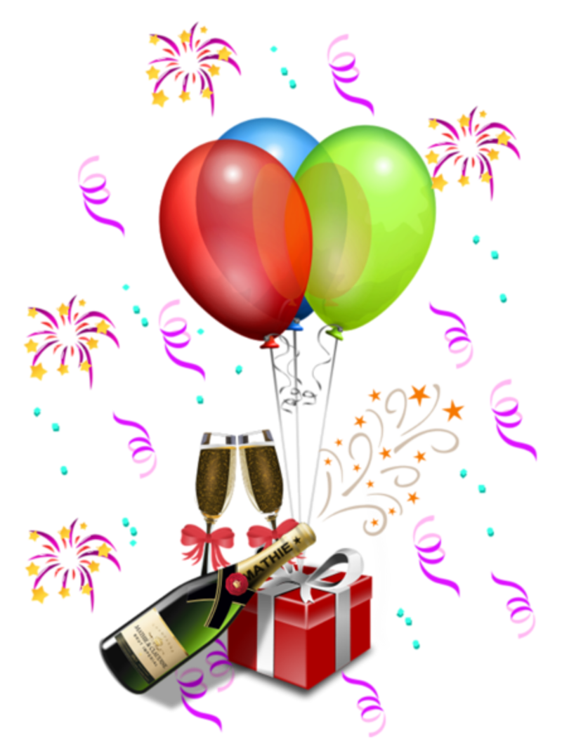 Clipart balloon new years eve. Party decoration transparent png