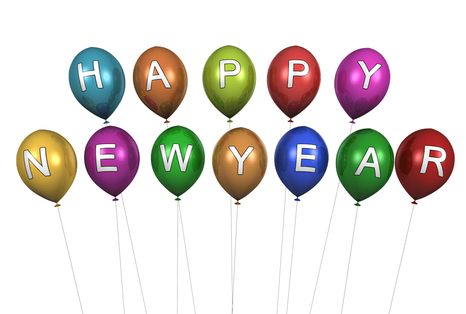 Happy year balloons transparent. Clipart balloon new years eve