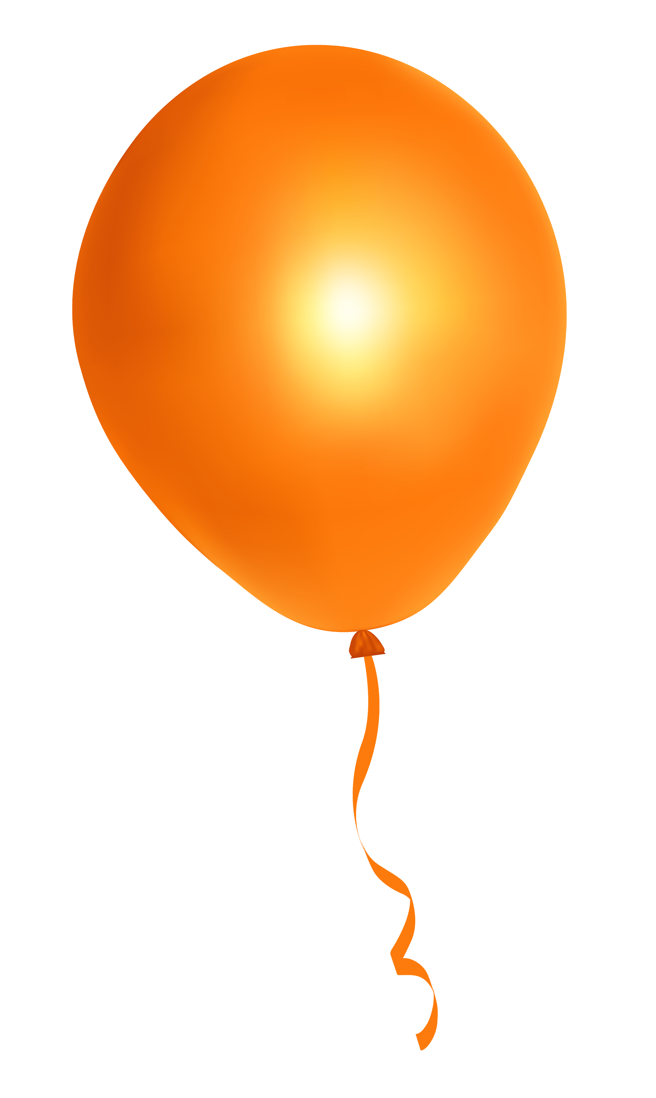collection of png. Clipart balloon orange