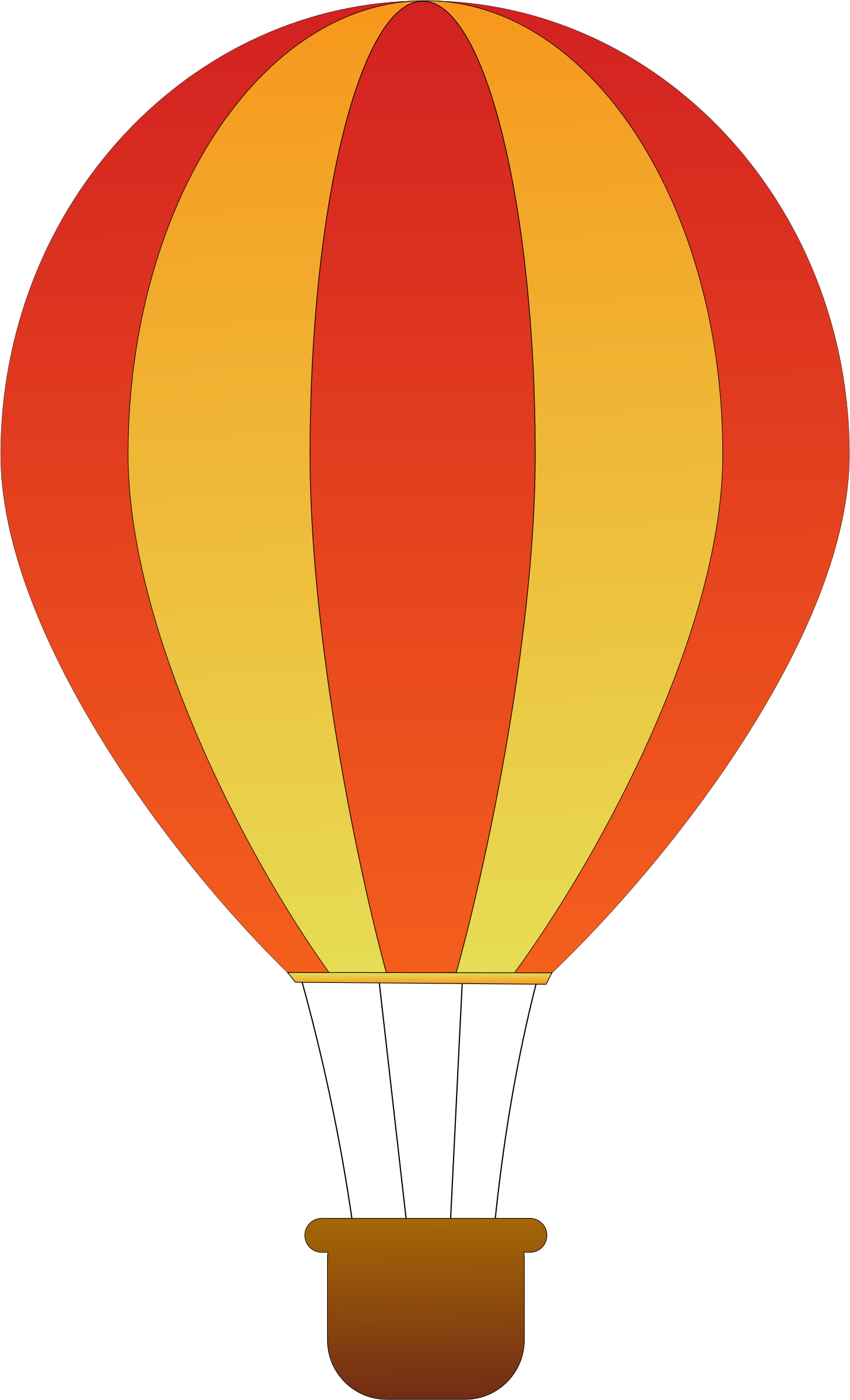Red clipart hot air balloon. Vertical striped balloons big