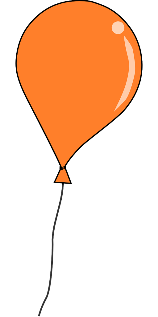 clipart balloon orange #62025640
