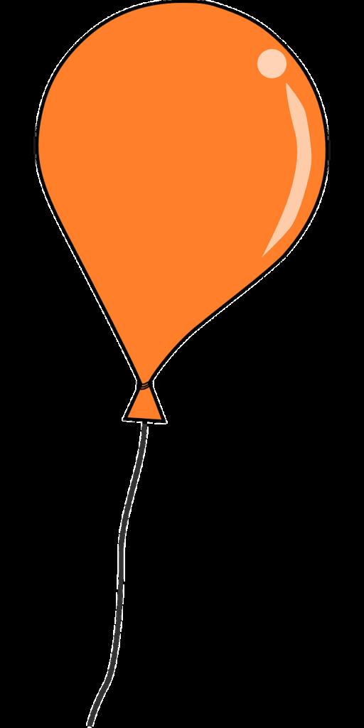 clipart balloon orange