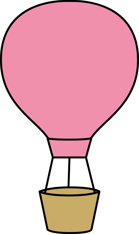 Air balloon images pink. Hot clipart clip art