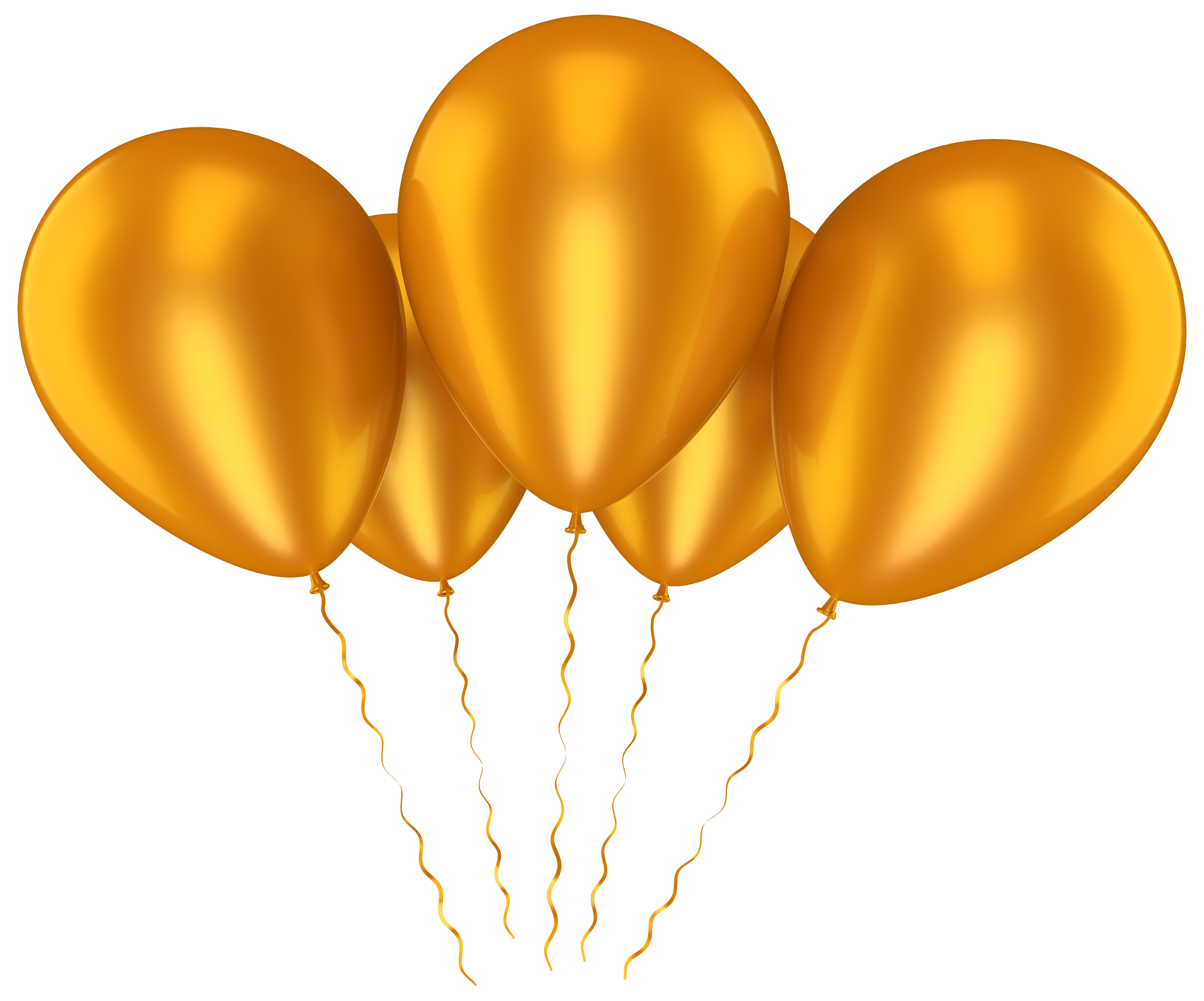 Peach clipart balloon. Gold balloons transparent clip