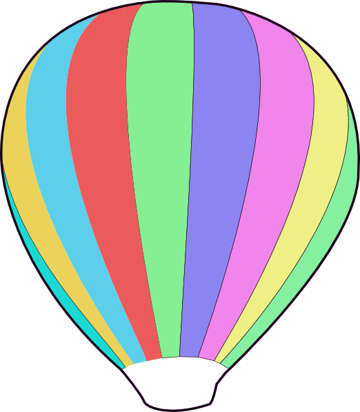 Clipart balloon outline. Hot air basket drawing