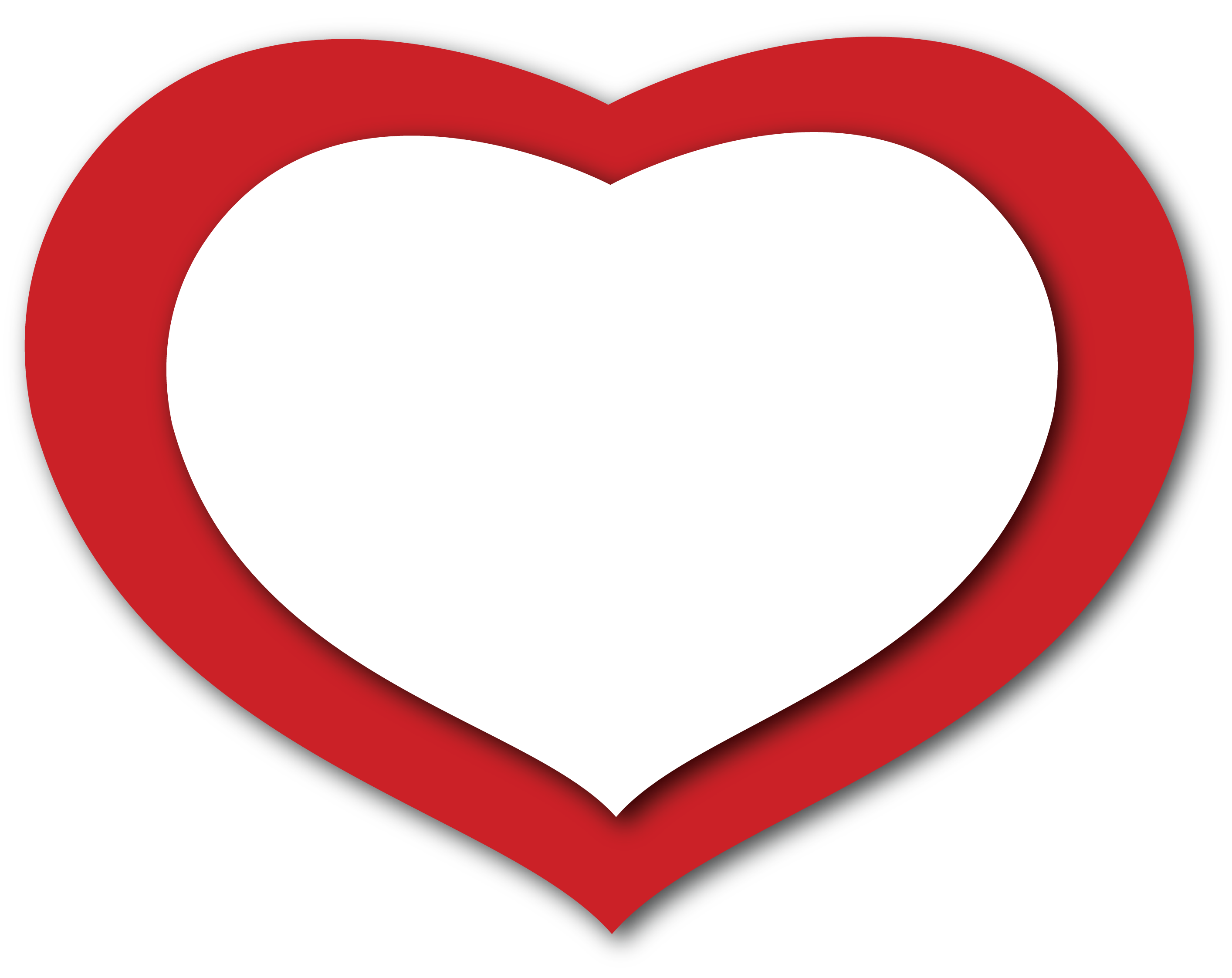 Free picture of red. Hearts clipart outline