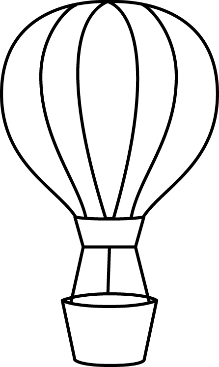 Hot clipart clip art. Air balloon images black