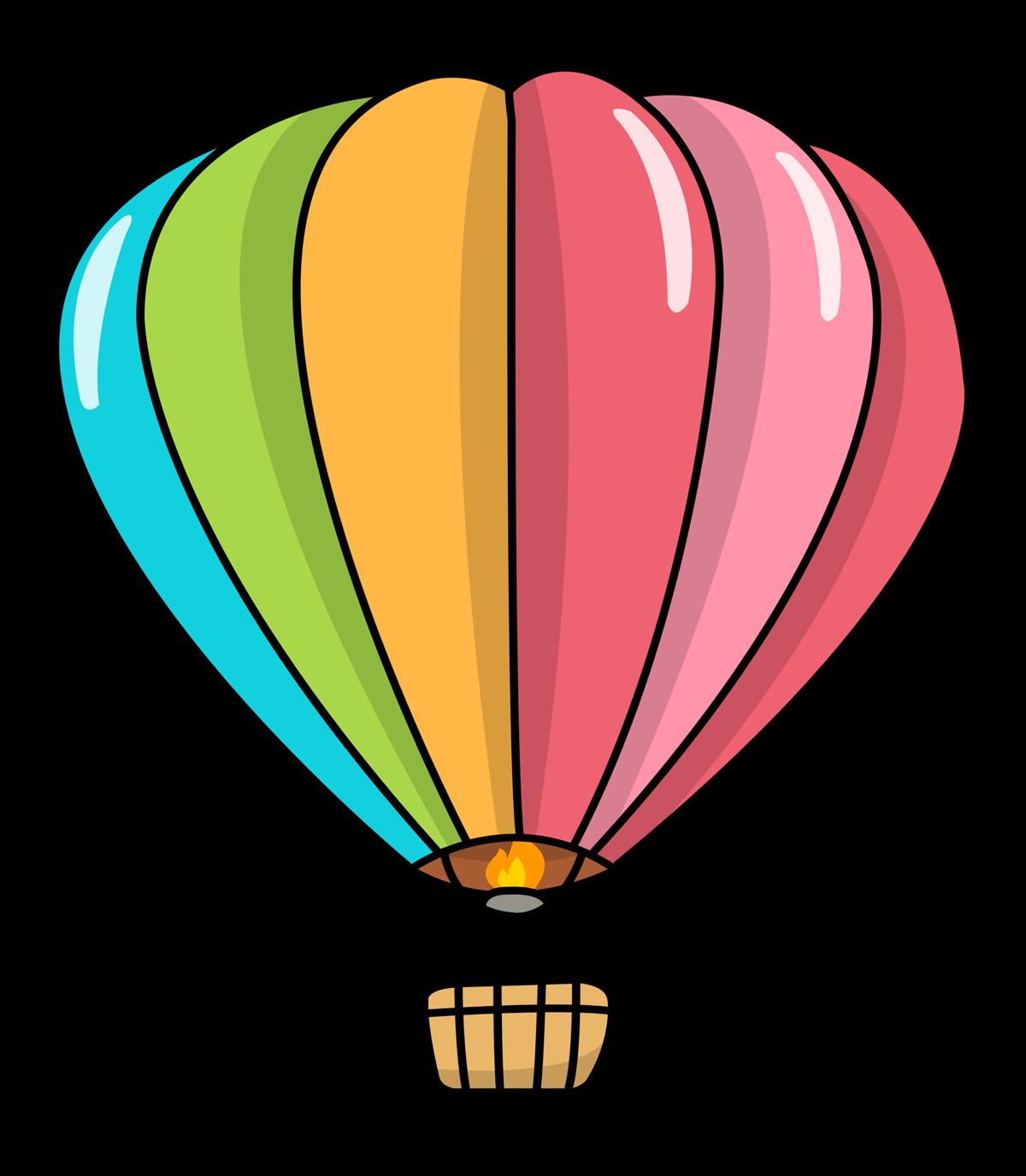 Hot air clip art. Clipart balloon outline