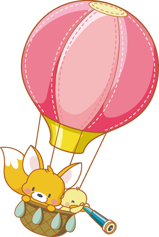 Clipart balloon peach. Cartoon hot air clip