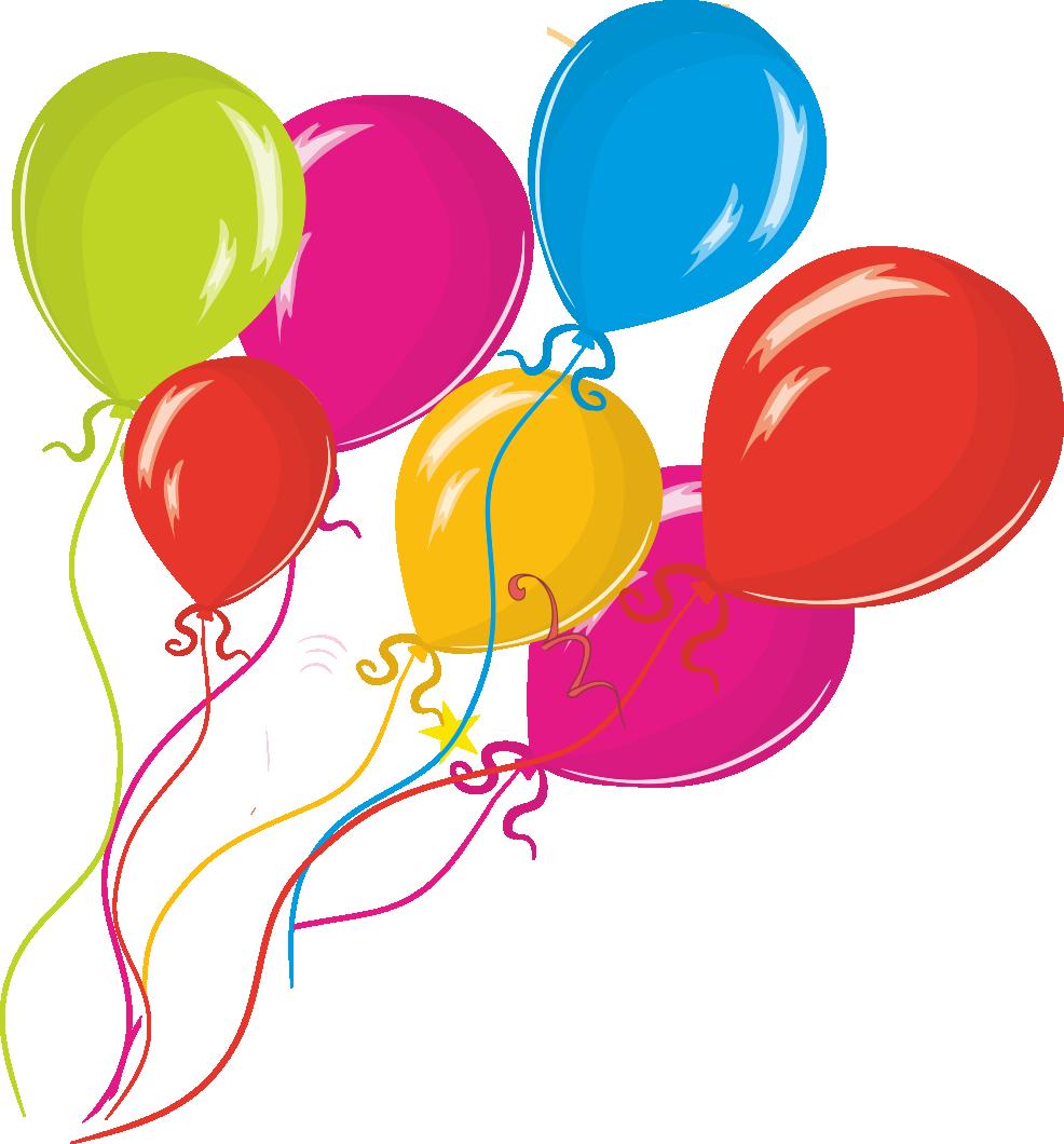Clipart balloon peach. Birthday clip art hand