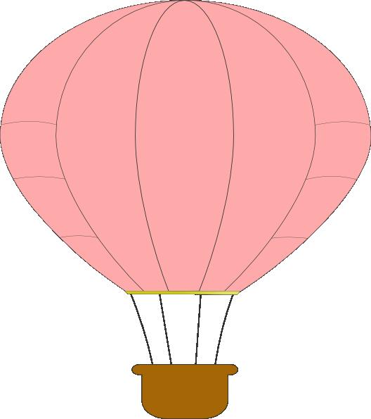 Clipart balloon peach. Pink hot air clip