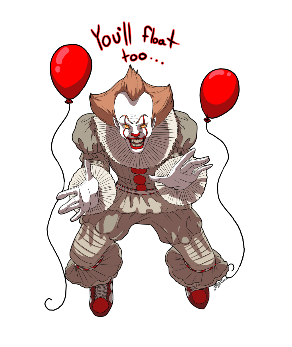 Clown clipart pennywise dancing clown. The by xxcommandershepardxx on