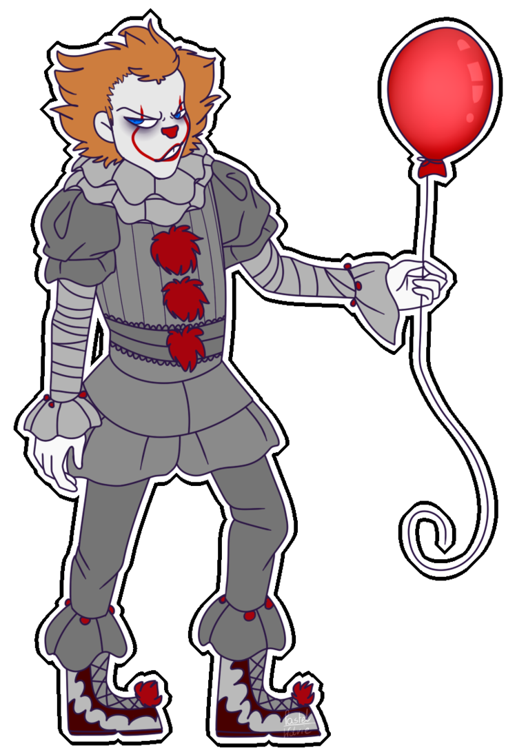 Clown clipart pennywise. The dancing by rileyowo