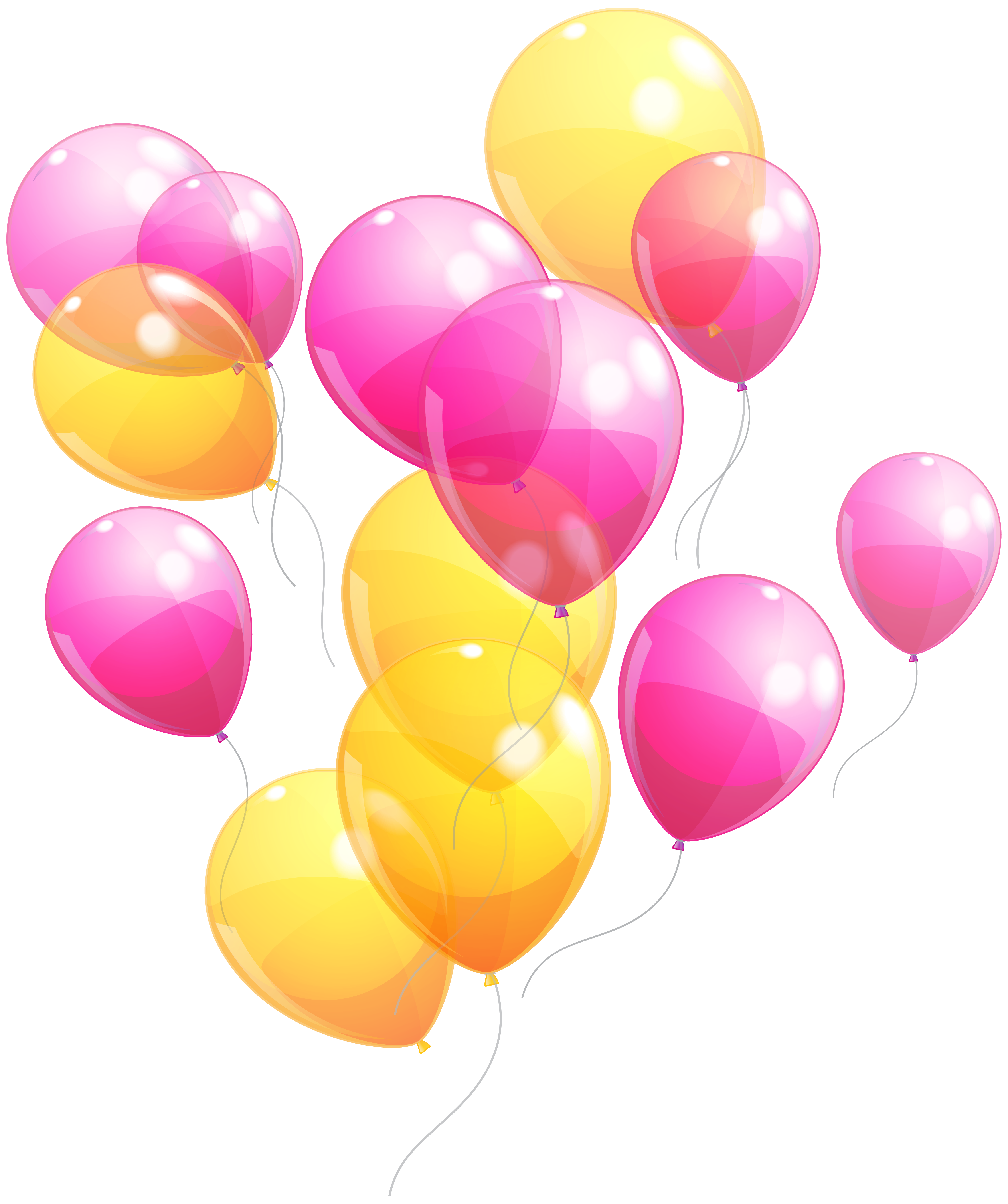 Clipart balloon pink. And yellow balloons bunch