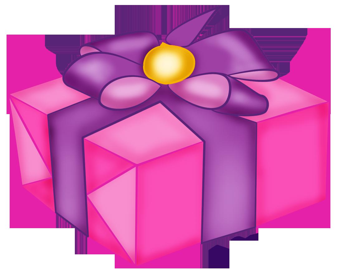 Valentine pink gift bag. Clipart balloon presents