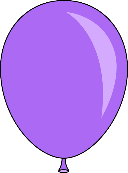 Clipart balloon purple. Balloons gclipart com