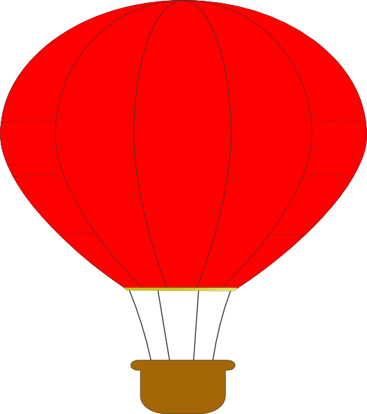 Red clip art at. Clipart png hot air balloon