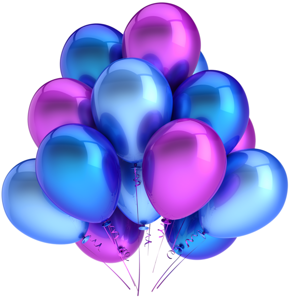 Transparent blue and pink. Clipart balloon retirement