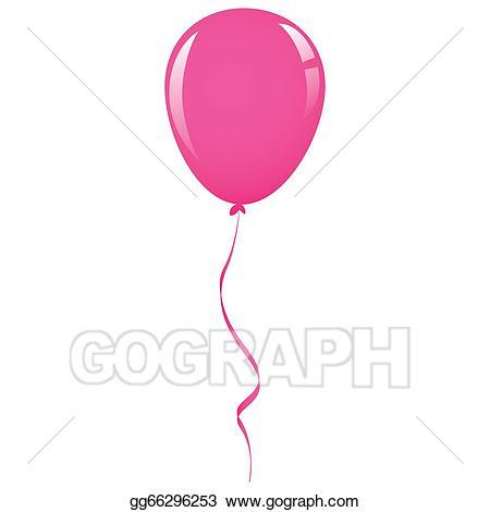 Clipart balloon ribbon. Drawing pink gg