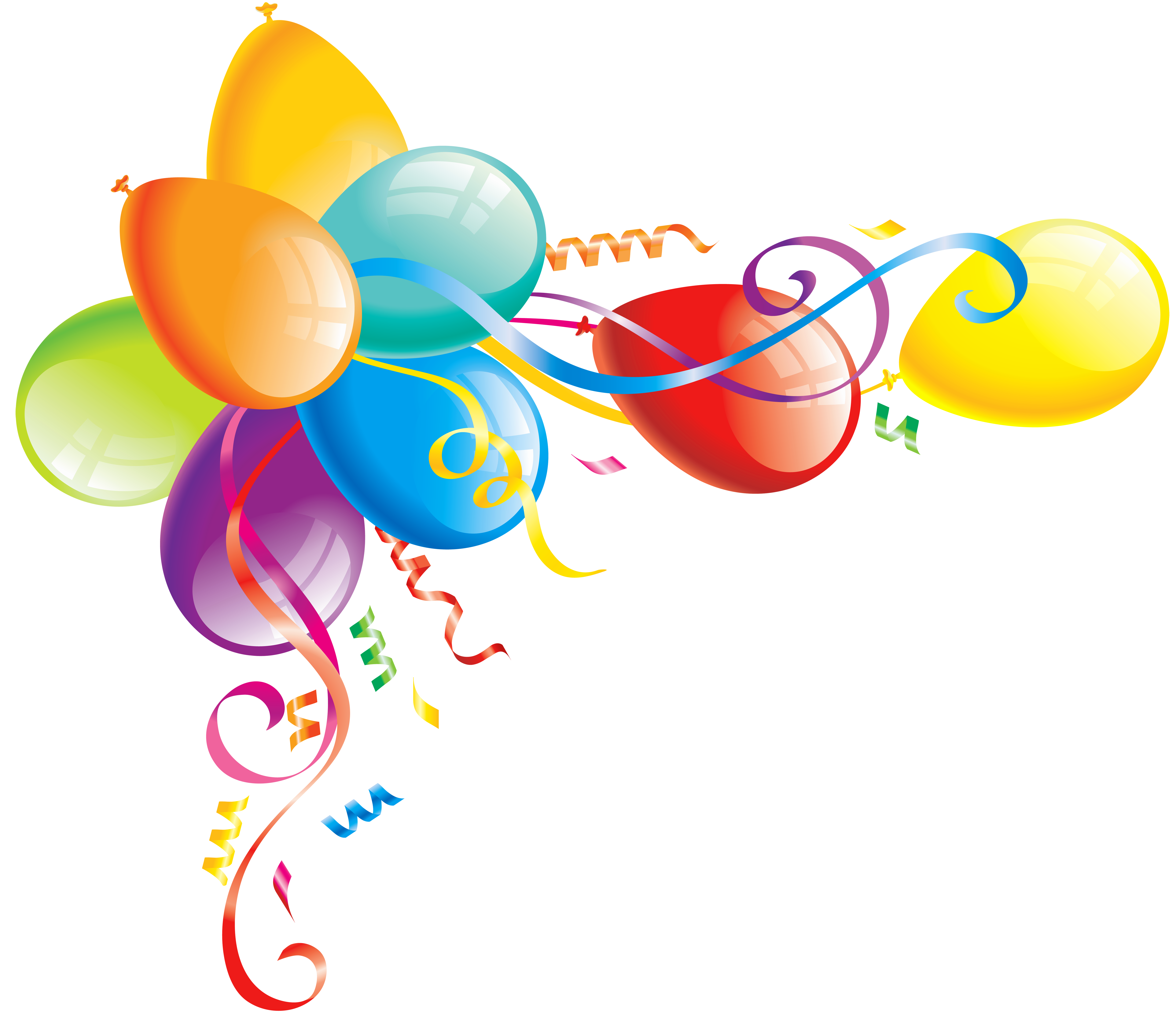 Clipart balloon ribbon. Large transparent balloons gallery