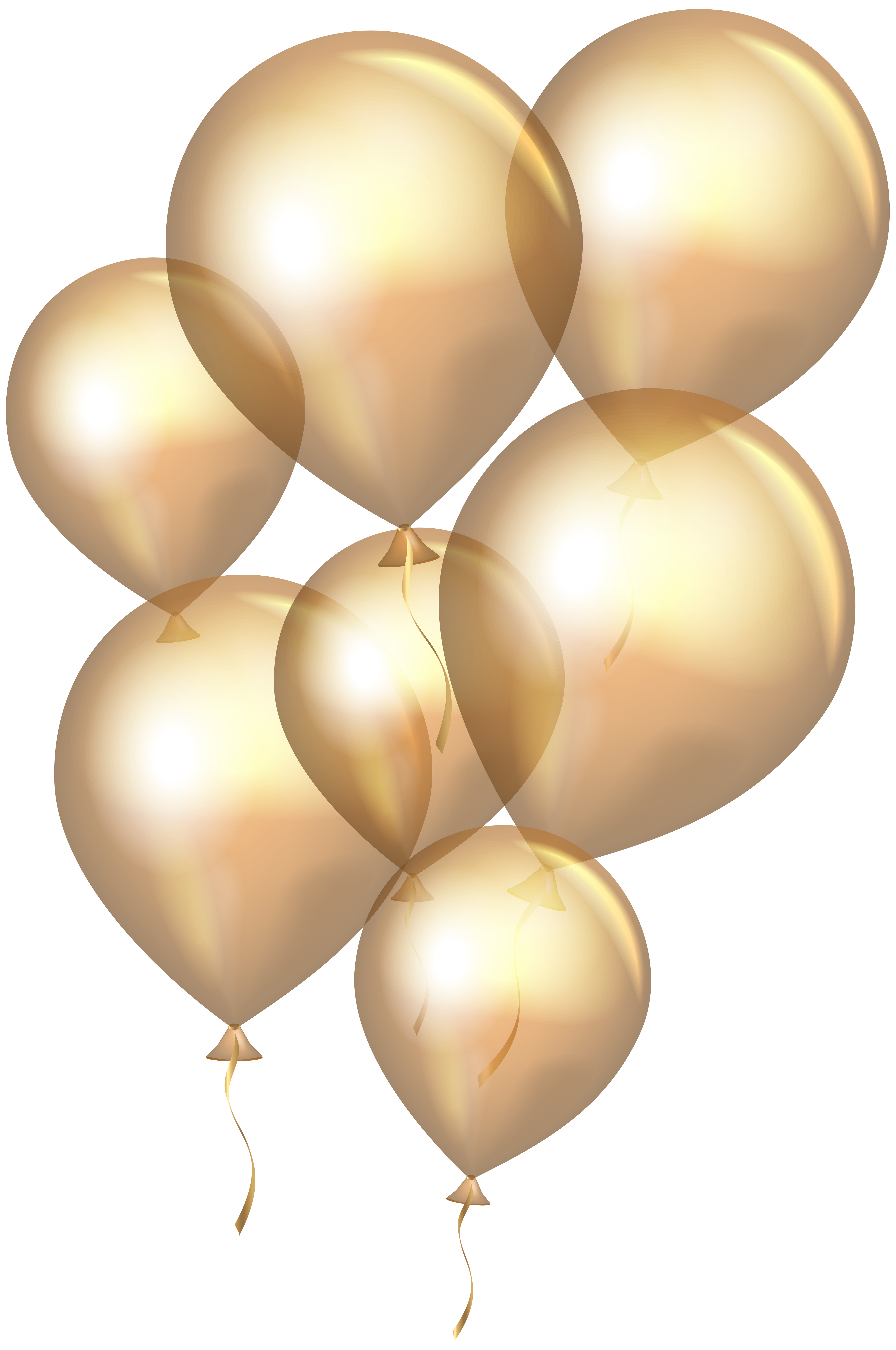 Clipart balloon rose gold. Transparent balloons png clip