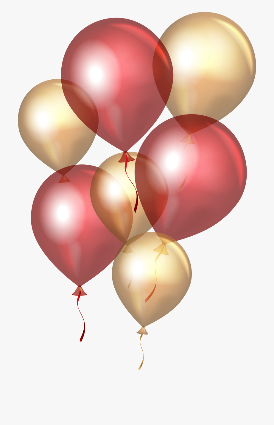 Clipart balloon rose gold. Clip art red png