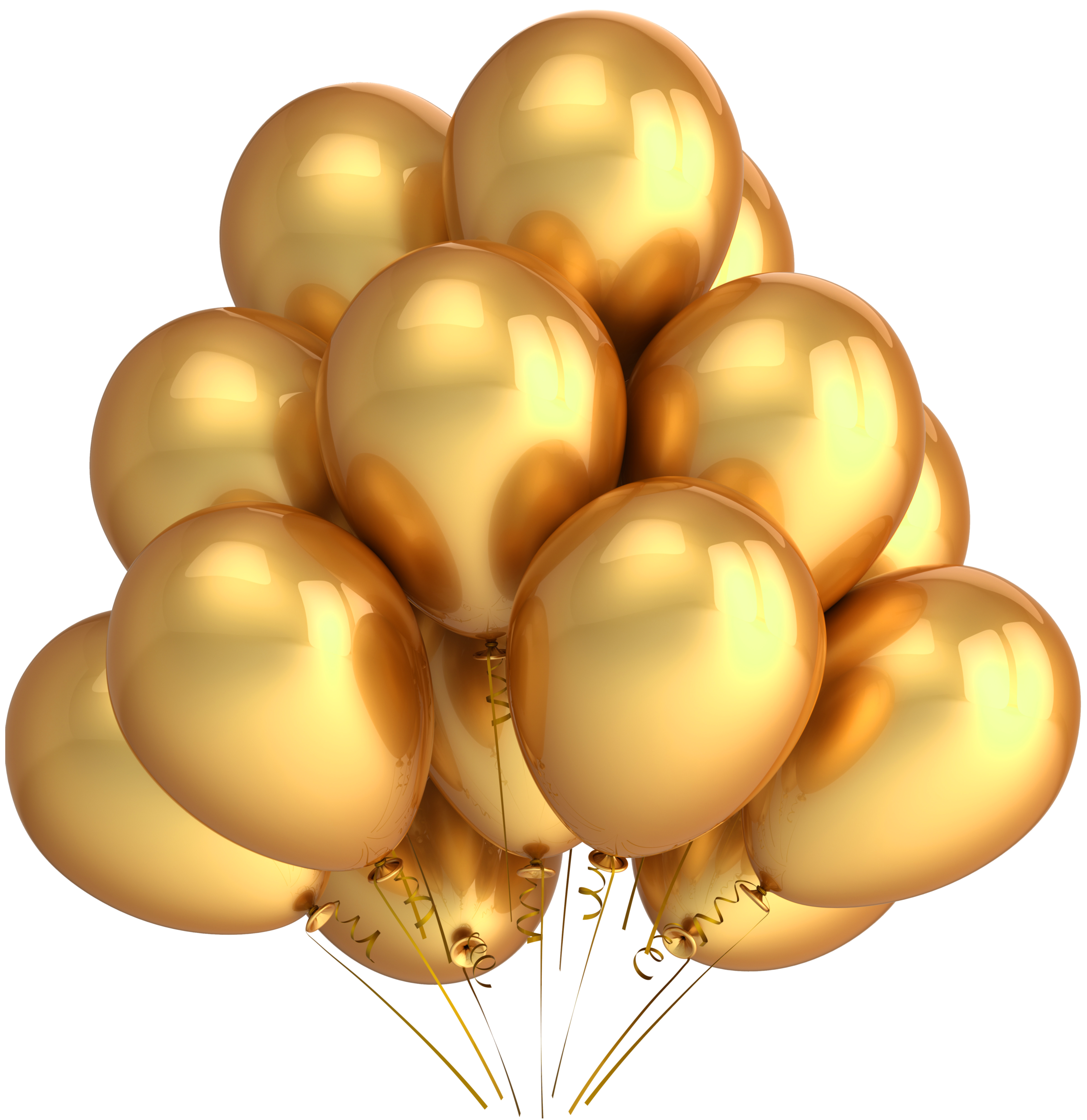 Clipart balloon rose gold. Transparent balloons gallery yopriceville