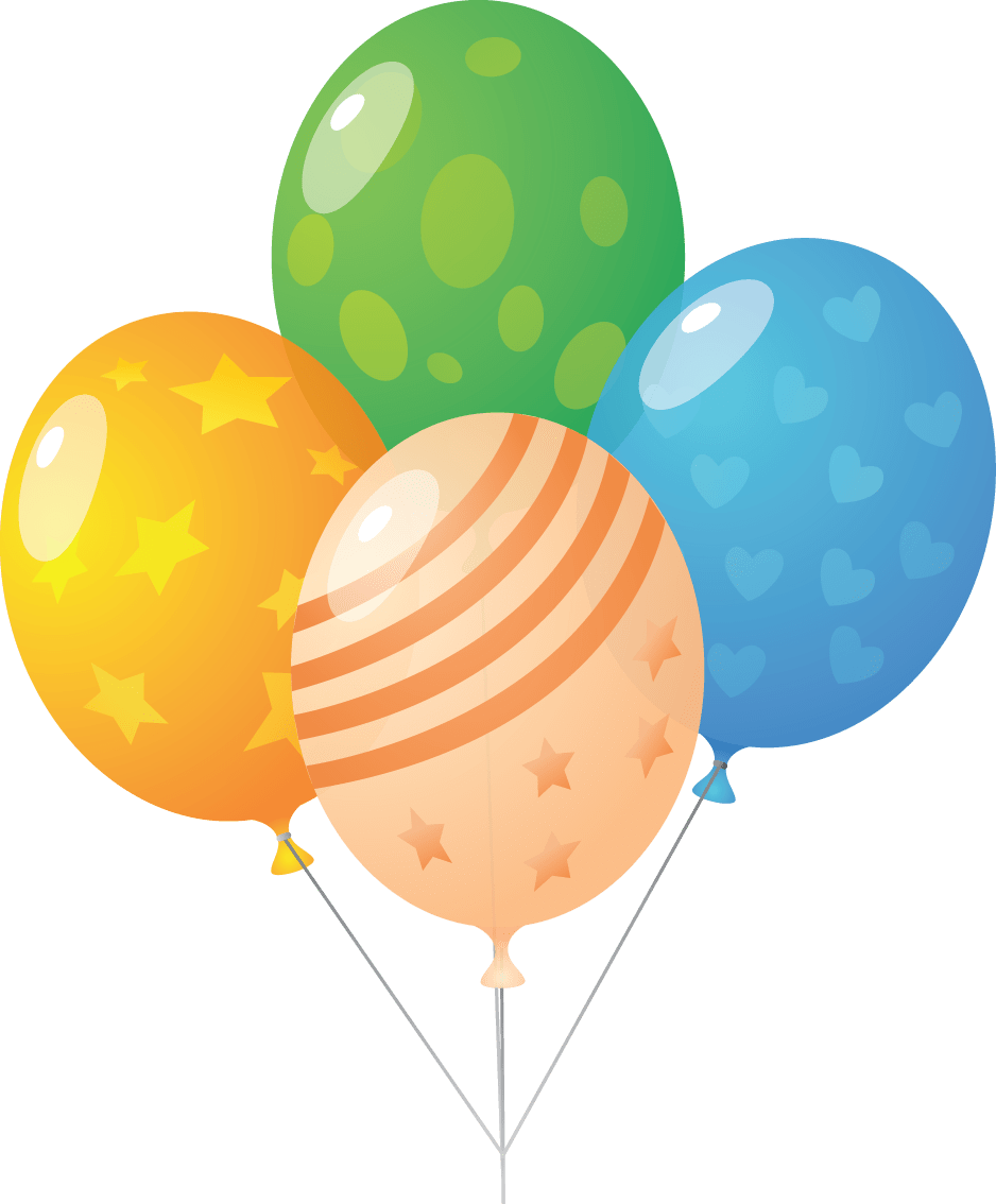 collection of tools. Clipart balloon row