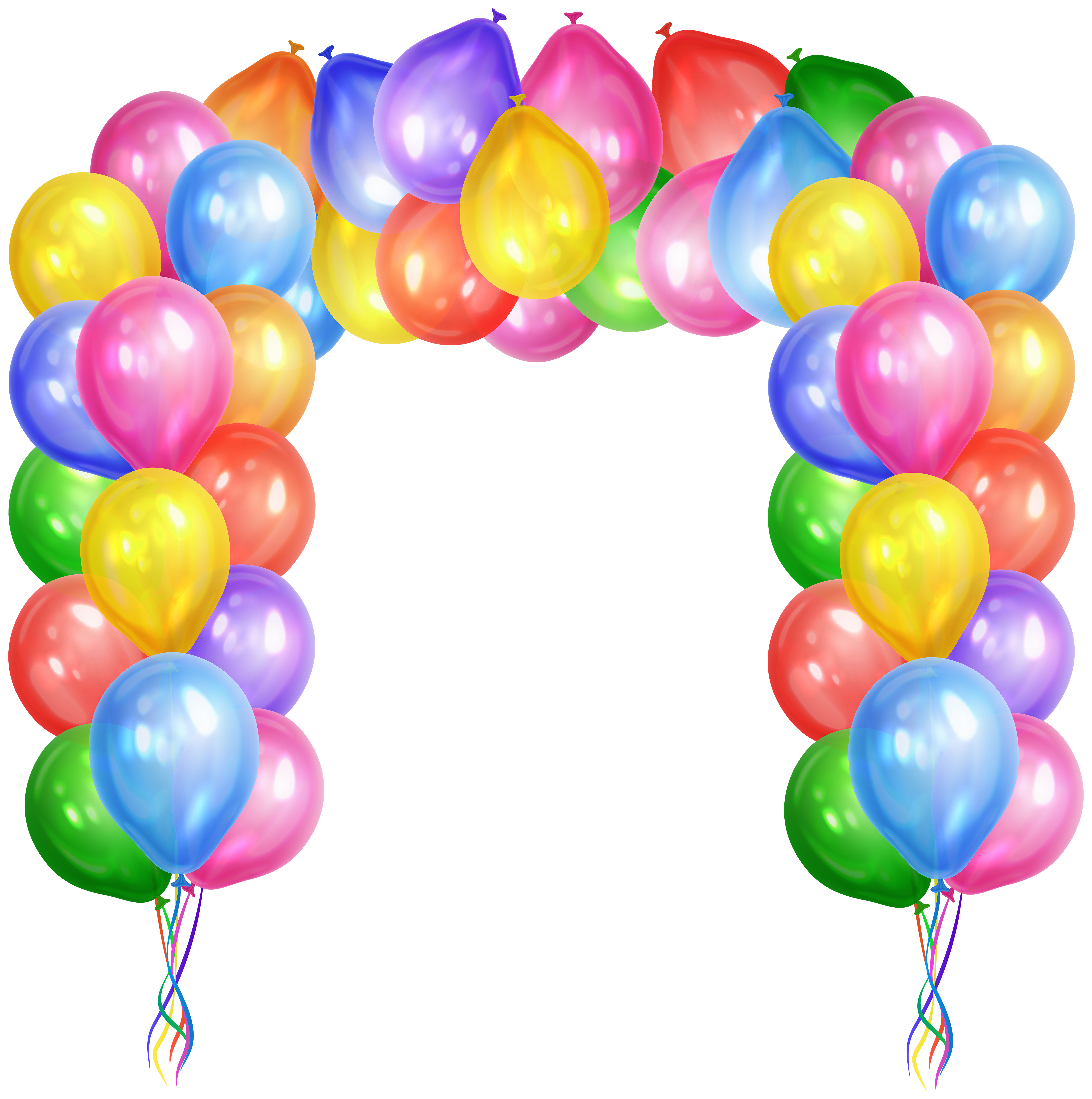 Clipart balloon row. Arch real free clip