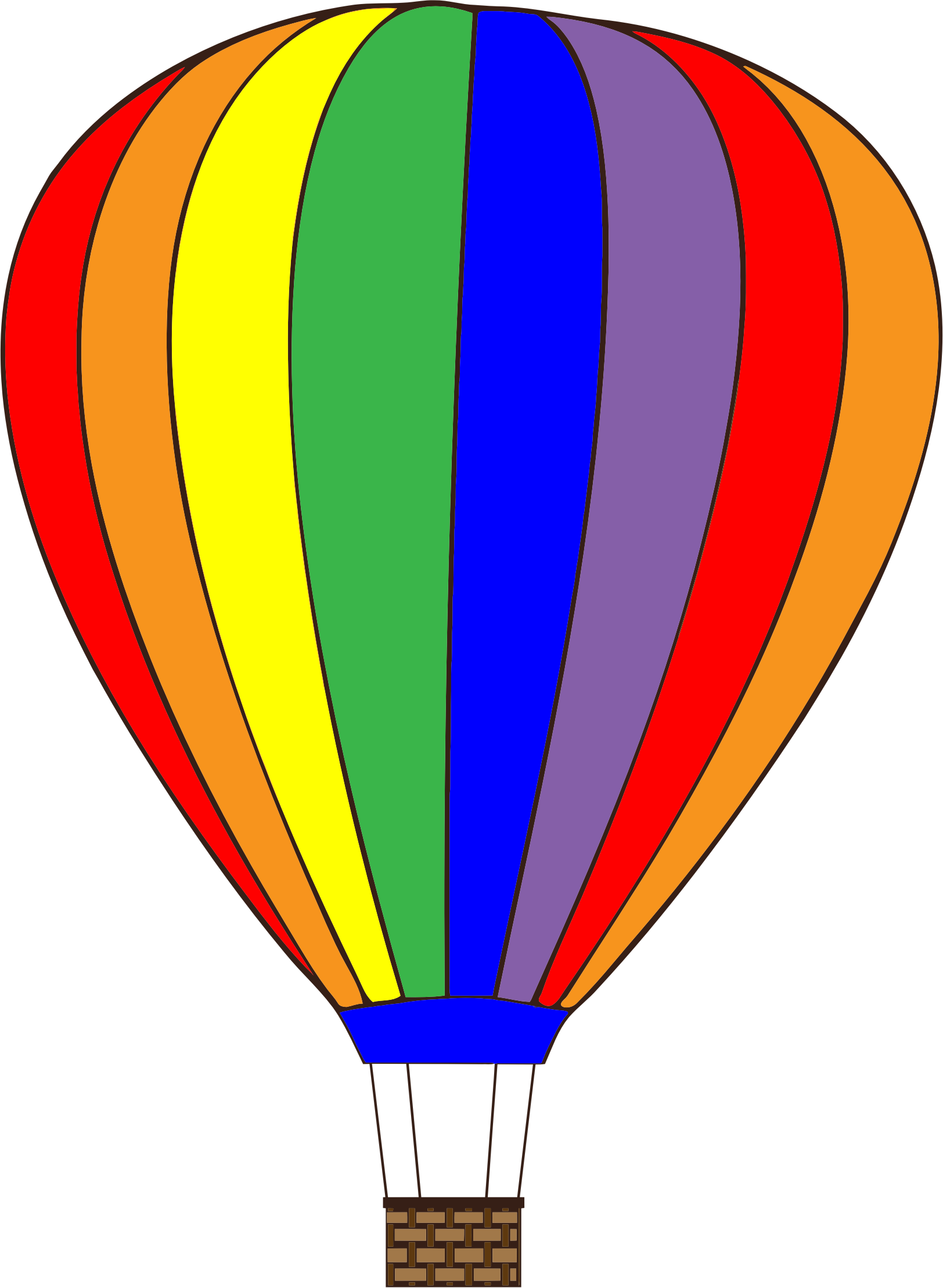 Puzzle clipart bridge. Colorful hot air balloon