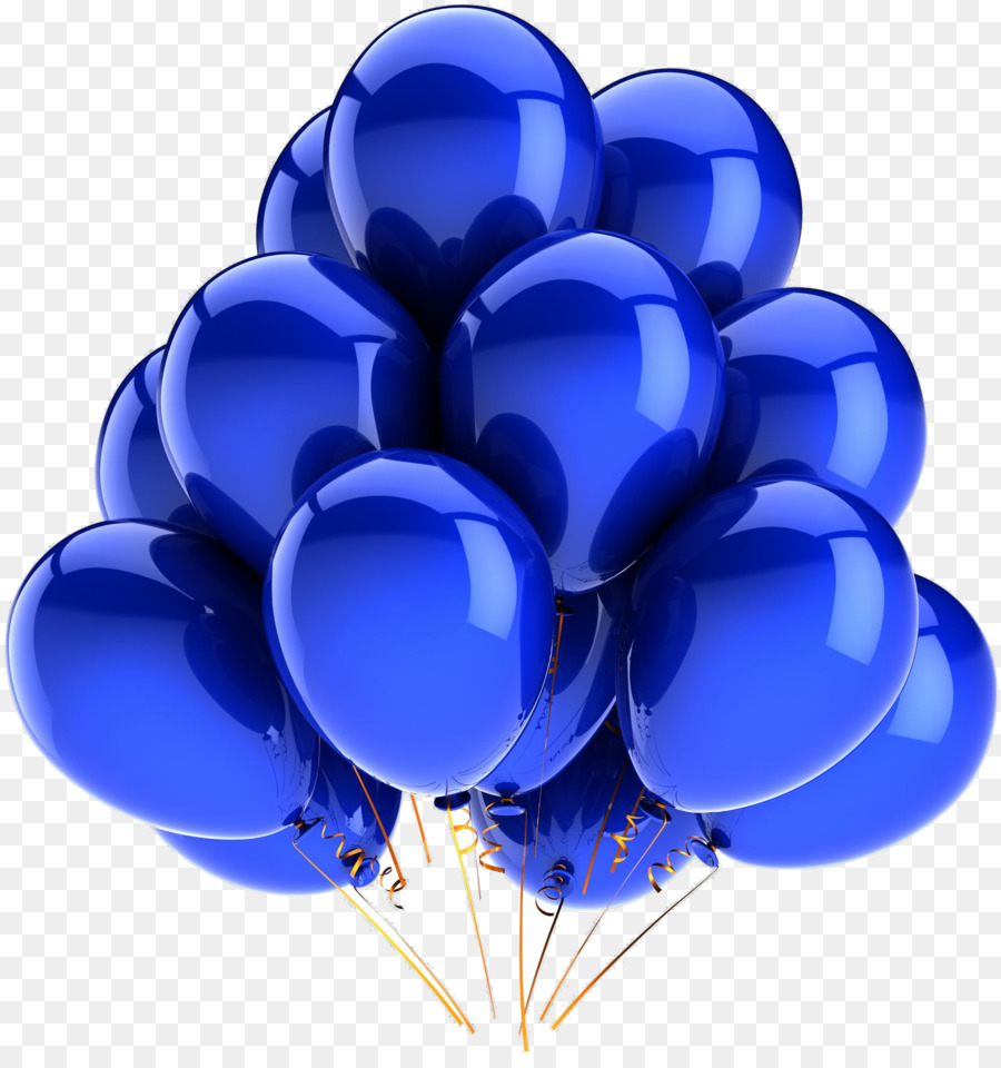 Birthday party background . Clipart balloon royal blue
