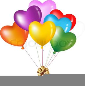 Heart shaped balloons free. Clipart balloon shape