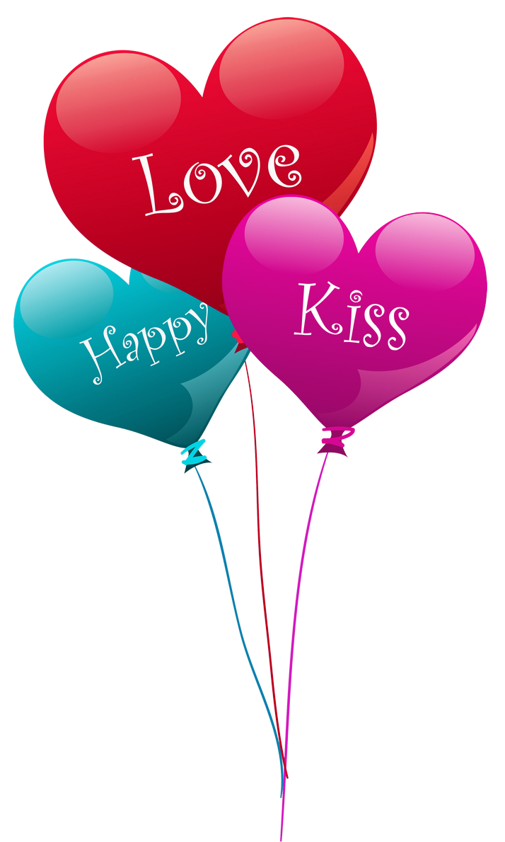 Transparent Heart Kiss Love Happy Balloons PNG Clipart