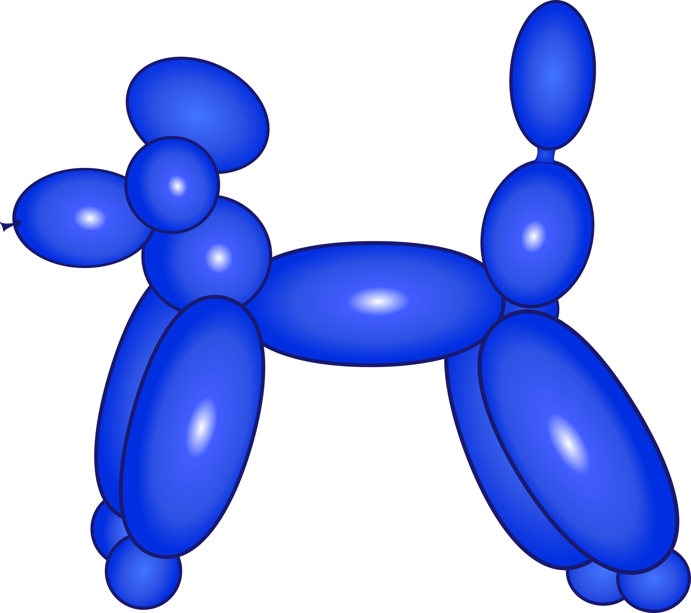 Dog blue big image. Clipart balloon shape