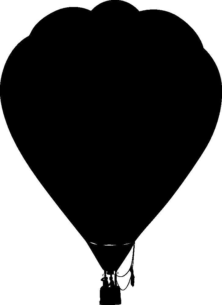 Clipart balloon silhouette. Onlinelabels clip art hot