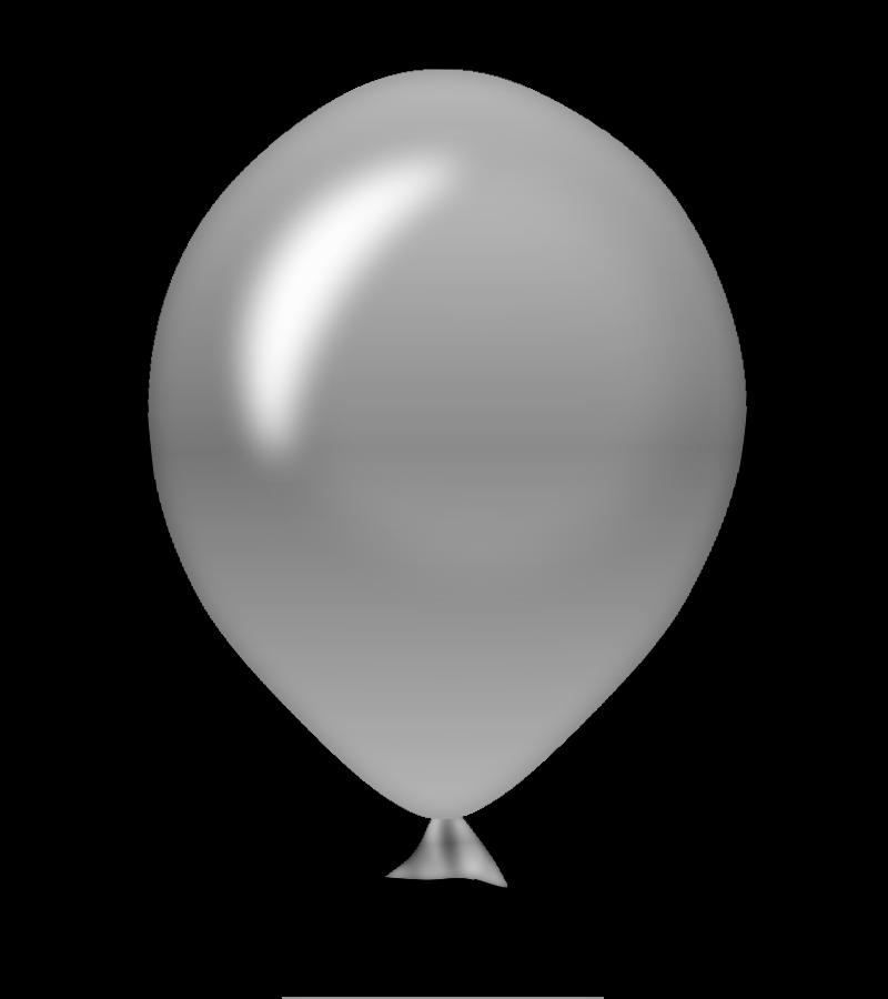Grey . One clipart balloon
