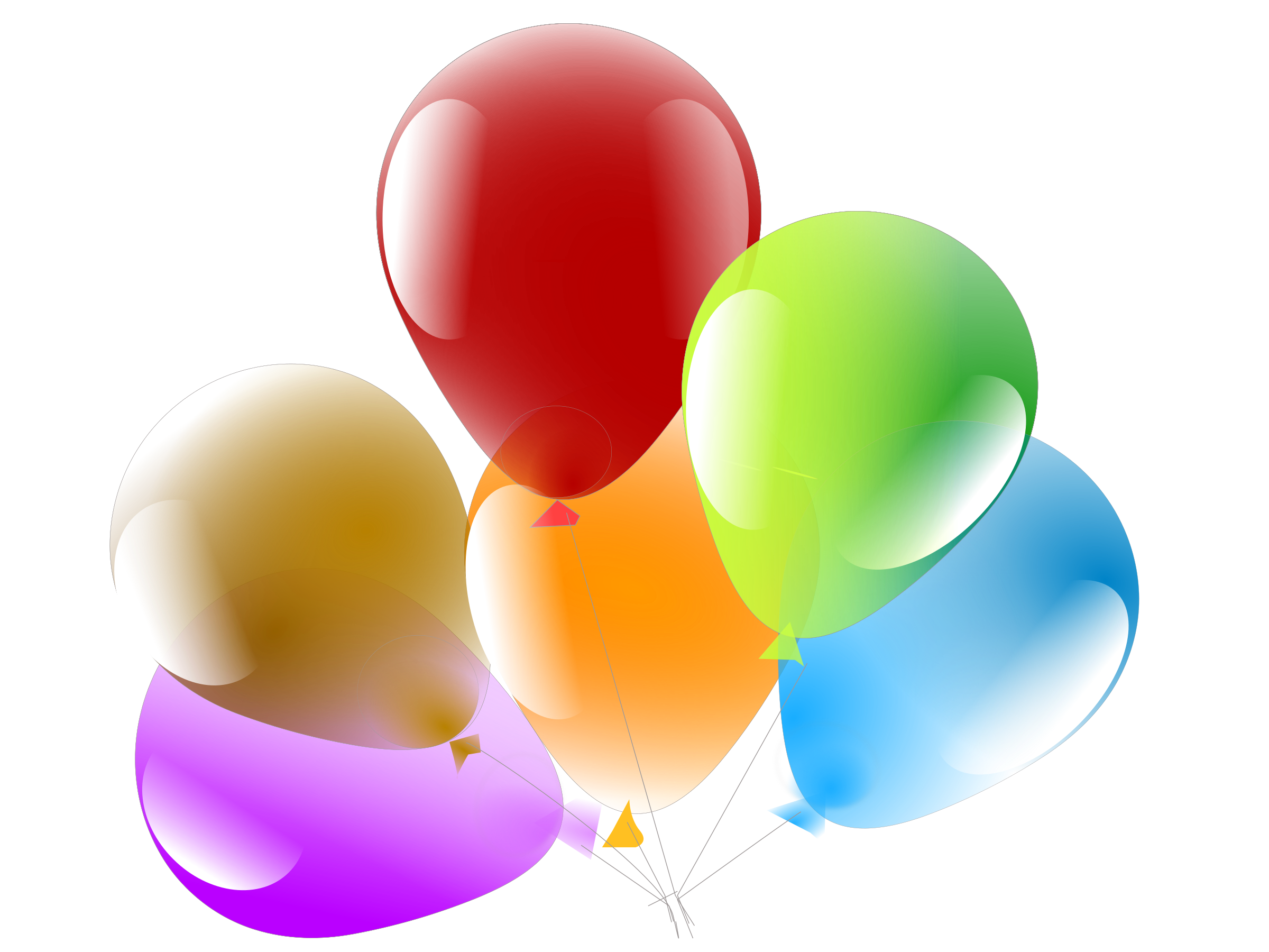 Balloons big image png. Clipart balloon six