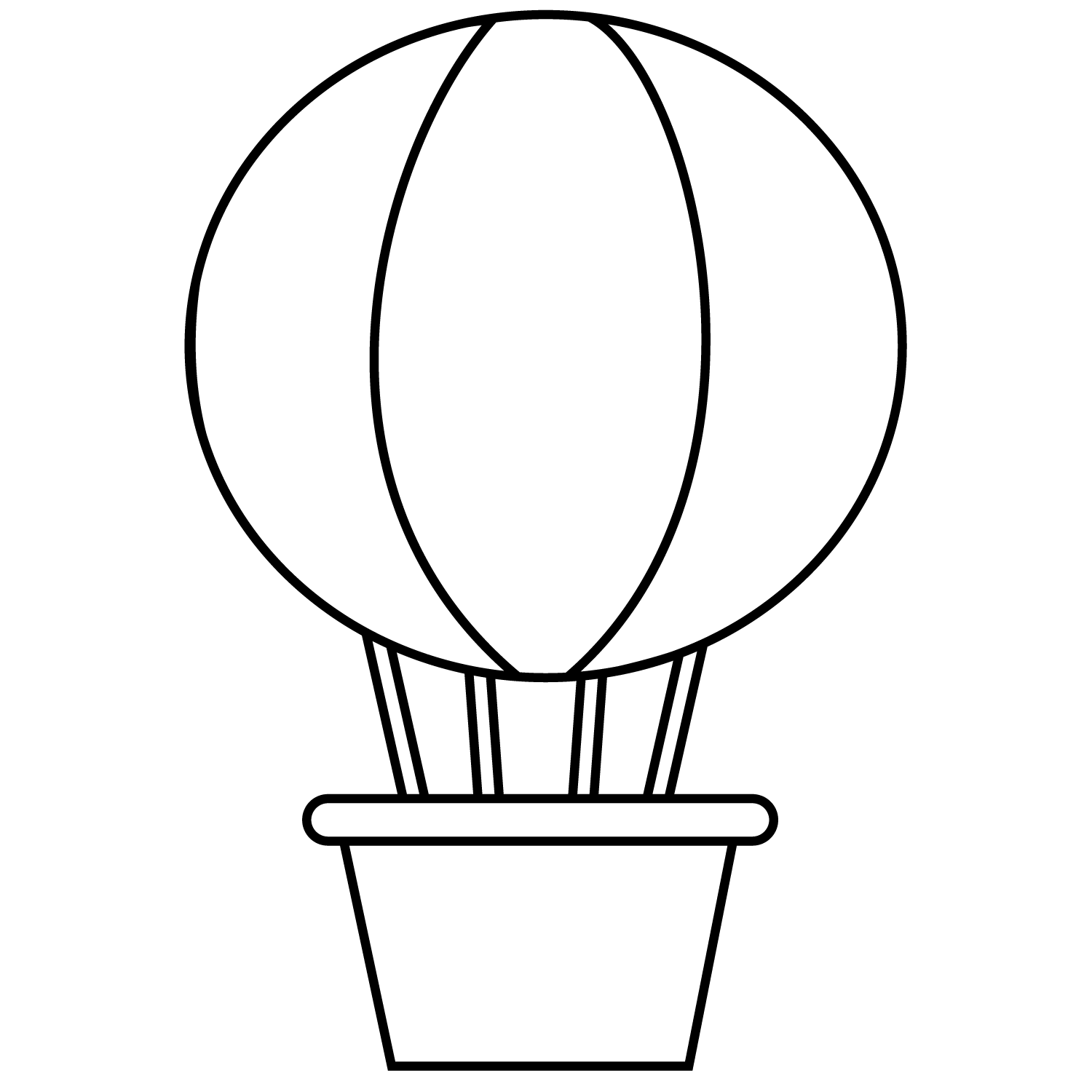 Meios de transporte png. Clipart balloon sketch