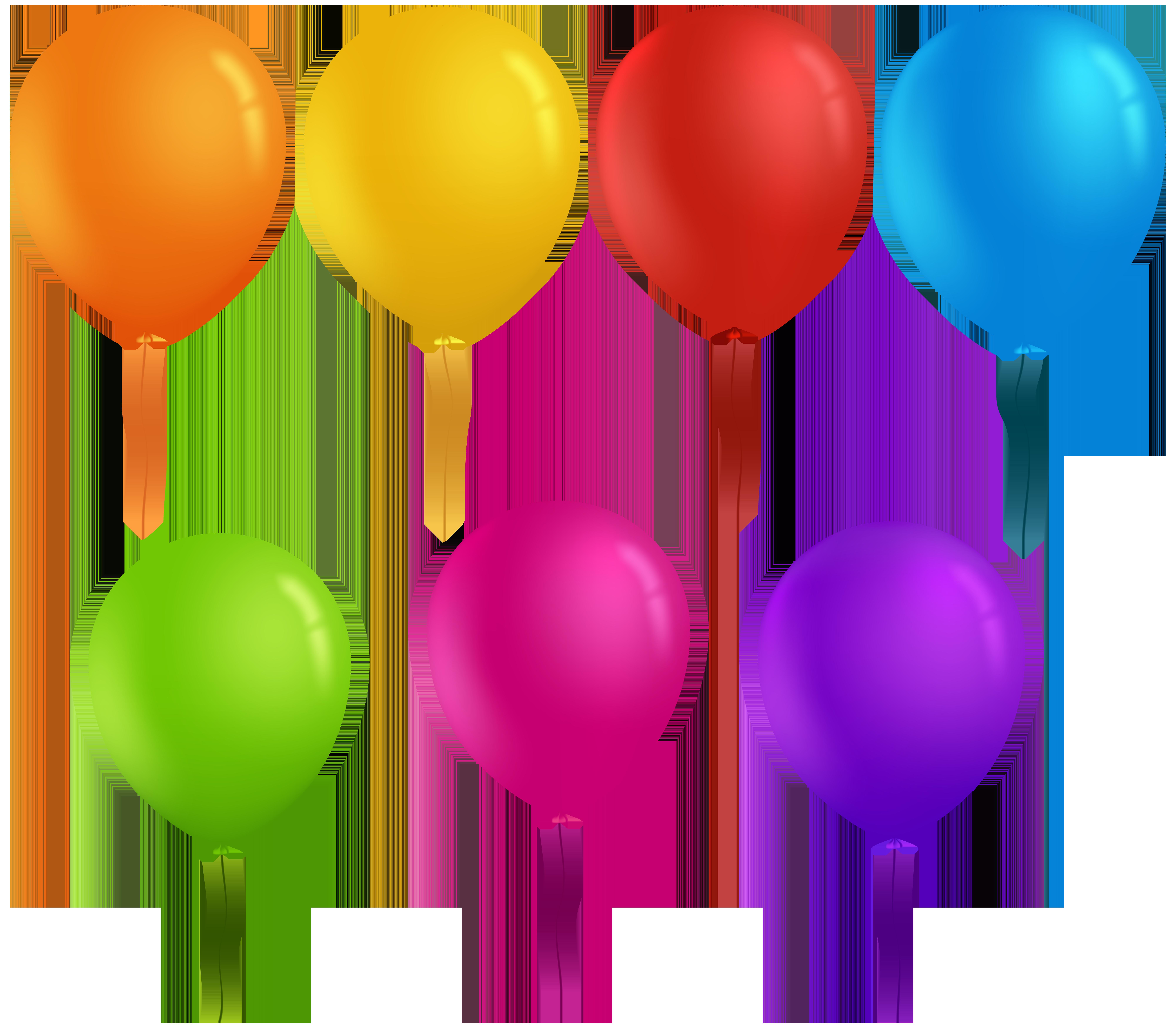 Clipart balloon spring. Balloons transparent clip art