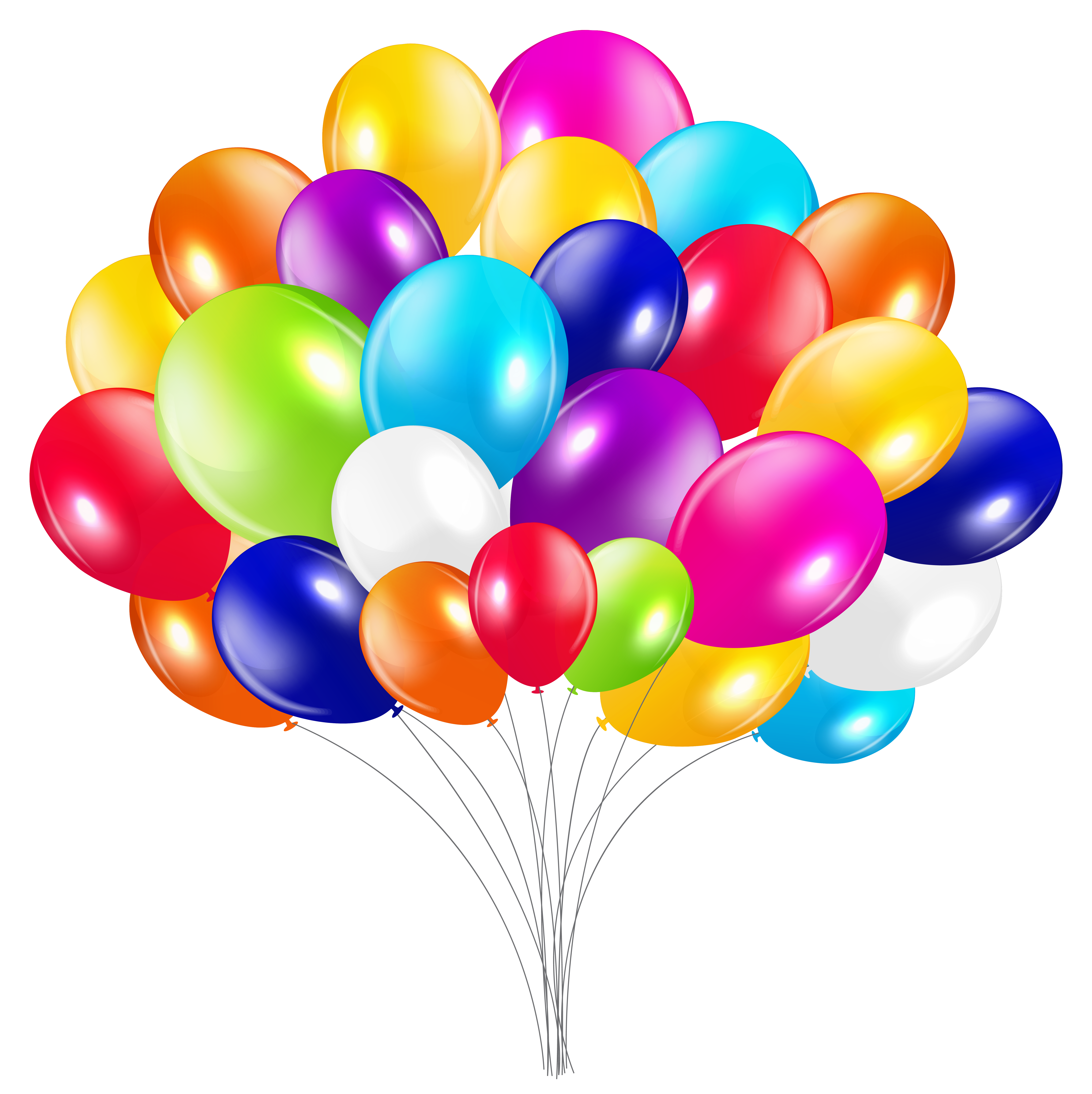 Bunch of balloons png. Clipart balloon spring