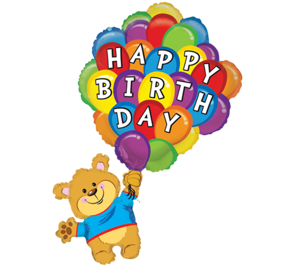 Joyeux anniversaire happy birthday. Positive clipart denotation