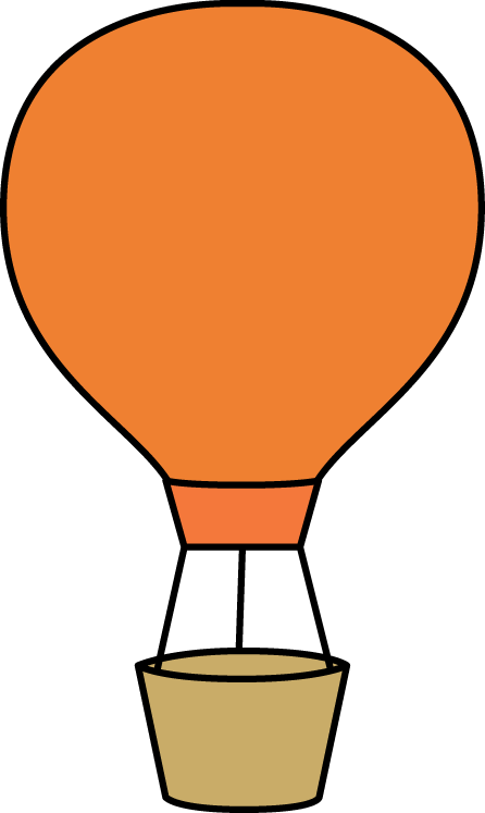 Orange Hot Air Balloon