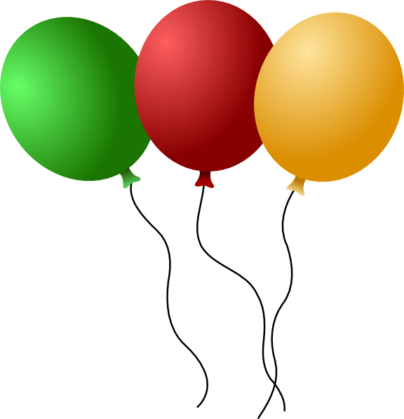 One clipart balloon. Green panda free images