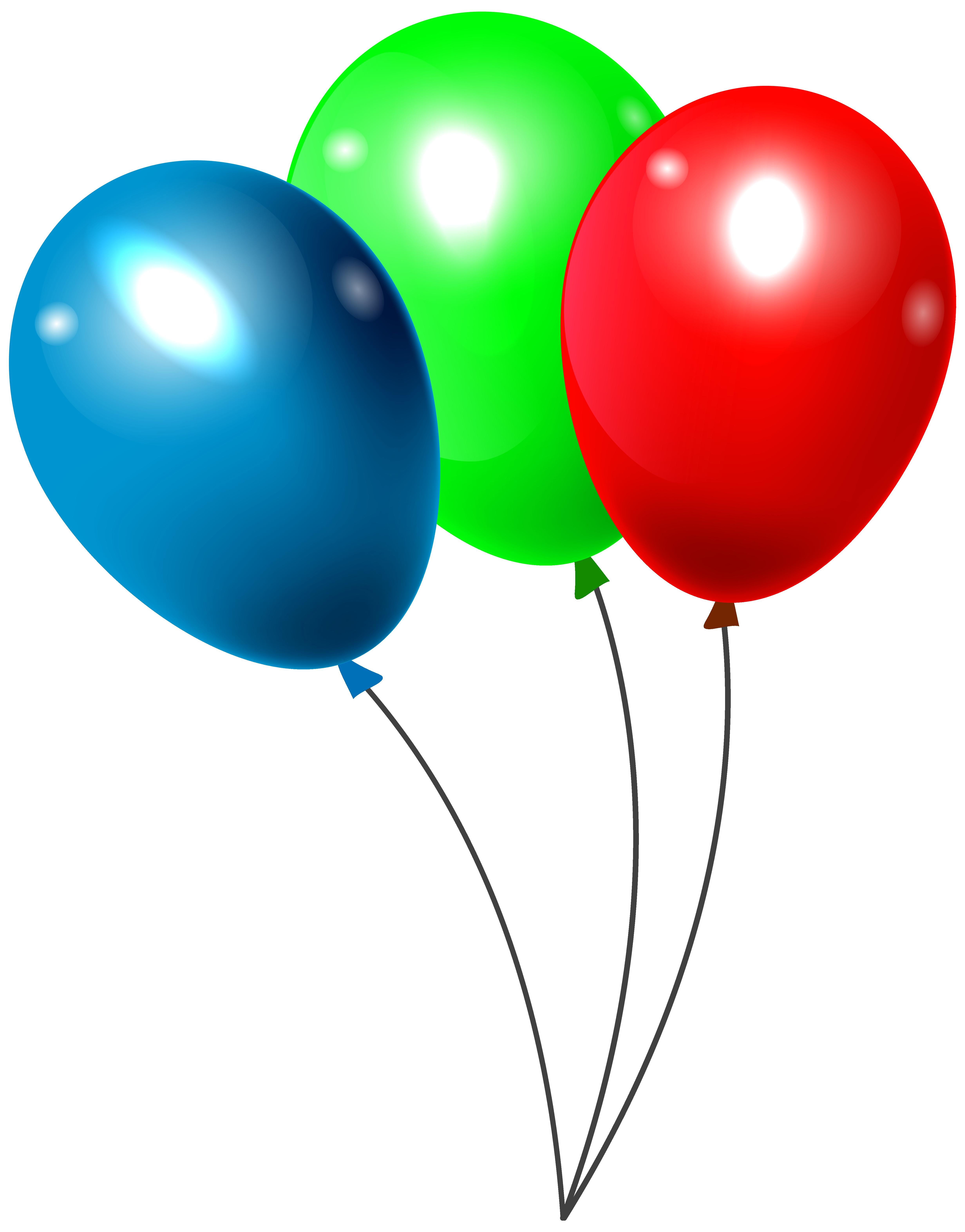 Three balloons png clipar. Clipart balloon summer