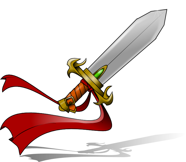 Dagger clipart saber sword. Fantasy clip art this