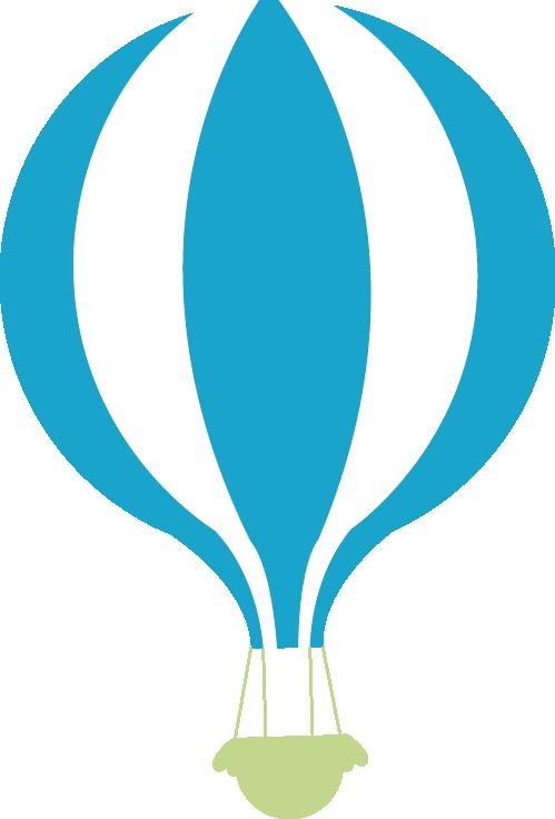 Hot air clip art. Clipart balloon teal