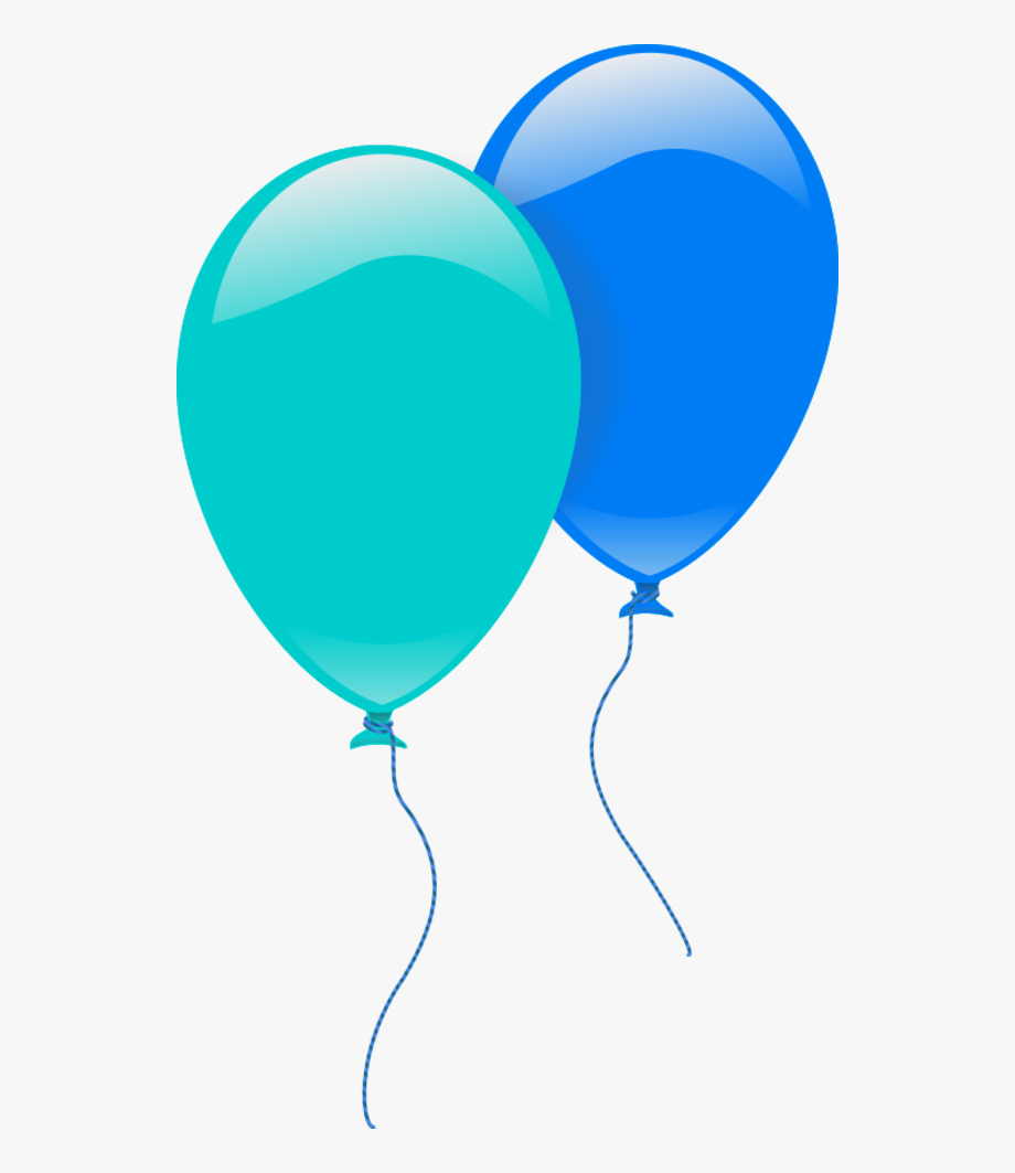 Balloons green and blue. Clipart balloon teal
